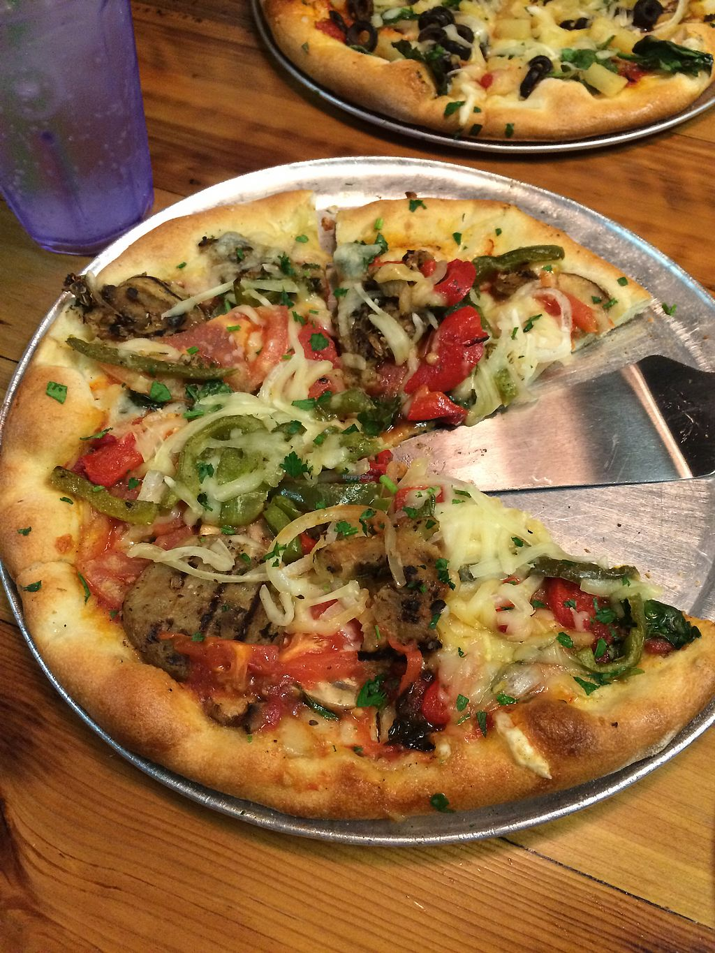 """Photo of Pioneers Pizza  by <a href=""""/members/profile/Mike%20Silver"""">Mike Silver</a> <br/>Vegan personal pie! <br/> January 20, 2018  - <a href='/contact/abuse/image/69890/348624'>Report</a>"""