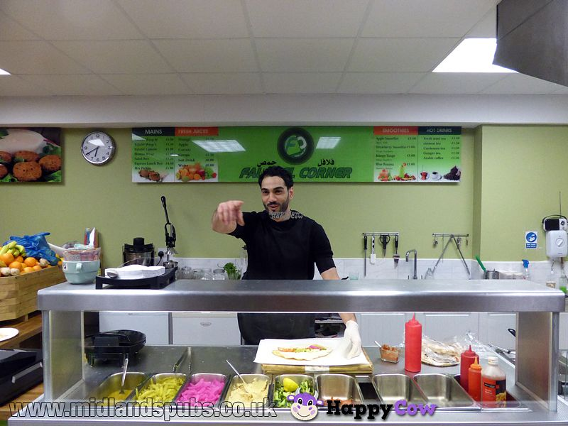 """Photo of Falafel Corner  by <a href=""""/members/profile/midlandspubs.co.uk"""">midlandspubs.co.uk</a> <br/>This guy provides excellent customer service <br/> October 8, 2016  - <a href='/contact/abuse/image/69898/180709'>Report</a>"""