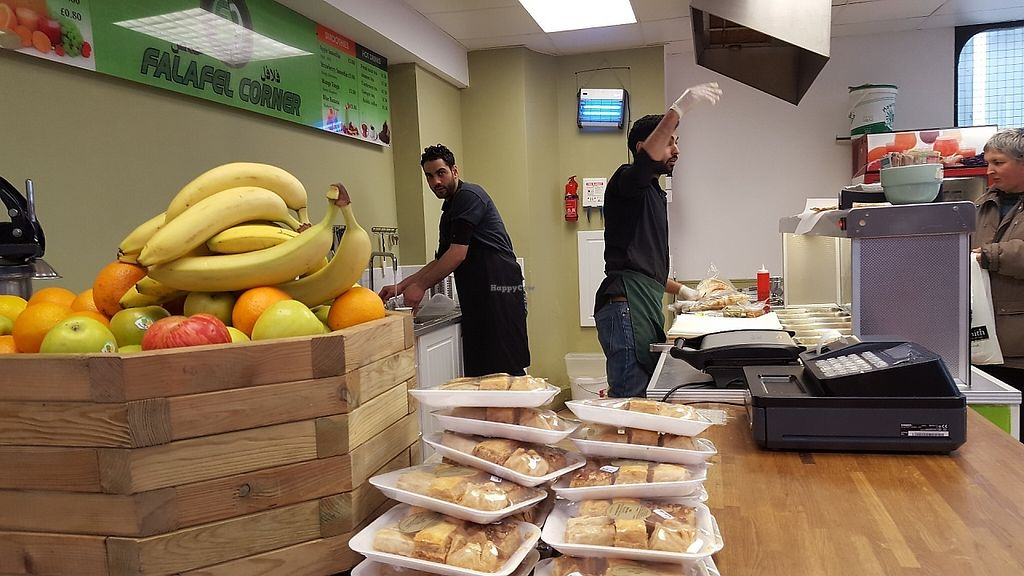 """Photo of Falafel Corner  by <a href=""""/members/profile/Fredthefarm"""">Fredthefarm</a> <br/>Smoothies, baklava, tea and of course falafels. Delicious food and friendly staff !   <br/> May 18, 2017  - <a href='/contact/abuse/image/69898/259885'>Report</a>"""
