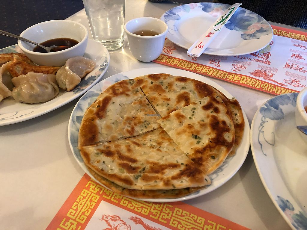 """Photo of China Chef  by <a href=""""/members/profile/yourmoderndayhippie"""">yourmoderndayhippie</a> <br/>Green Onion Pancake <br/> March 6, 2018  - <a href='/contact/abuse/image/69912/367329'>Report</a>"""