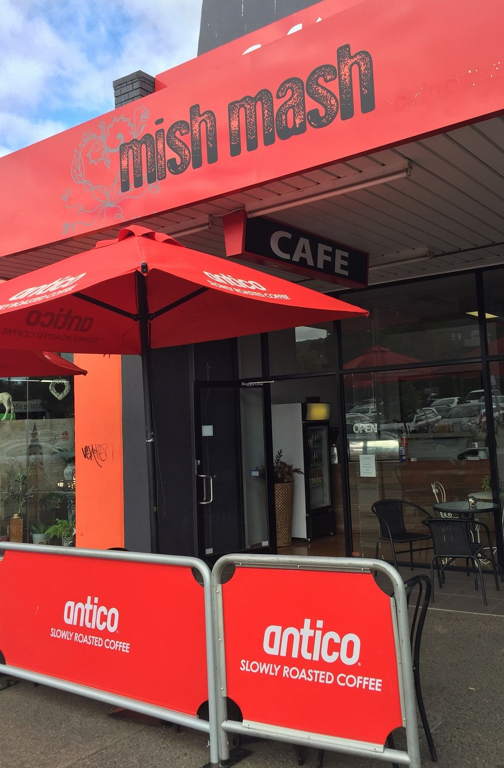 """Photo of Mish Mash Design & Cafe  by <a href=""""/members/profile/karlaess"""">karlaess</a> <br/>Exterior (Dorset Square carpark entry) <br/> February 22, 2016  - <a href='/contact/abuse/image/69969/137335'>Report</a>"""