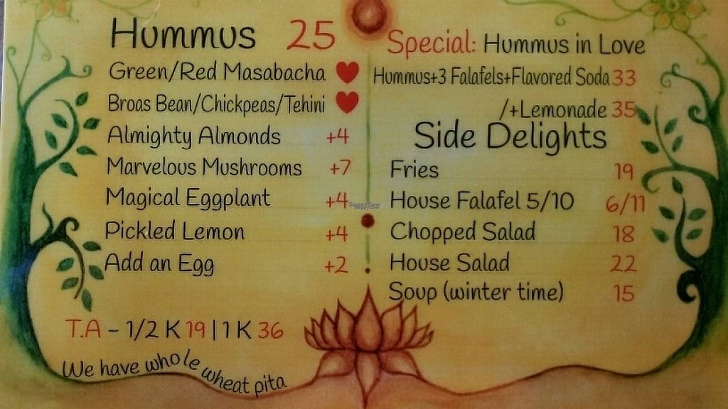 """Photo of Tahini Hummus  by <a href=""""/members/profile/Aivars"""">Aivars</a> <br/>Menu <br/> January 11, 2017  - <a href='/contact/abuse/image/69977/210728'>Report</a>"""