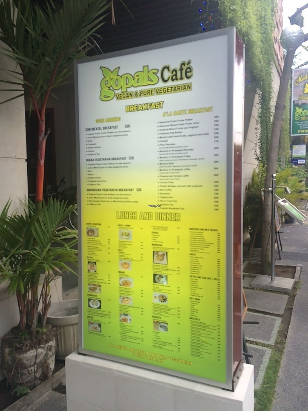 "Photo of Gopal's Cafe  by <a href=""/members/profile/~Florence~"">~Florence~</a> <br/>Gopal's Café menu <br/> March 13, 2017  - <a href='/contact/abuse/image/70001/236002'>Report</a>"