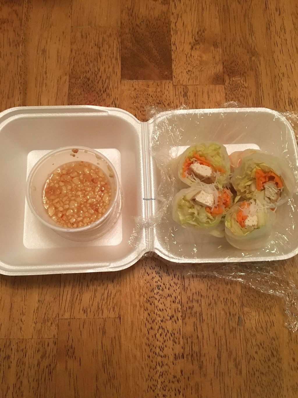 """Photo of Thai Kitchen  by <a href=""""/members/profile/sophiefrenchfry"""">sophiefrenchfry</a> <br/>Veggie fresh roll with tofu <br/> November 3, 2017  - <a href='/contact/abuse/image/70027/321540'>Report</a>"""
