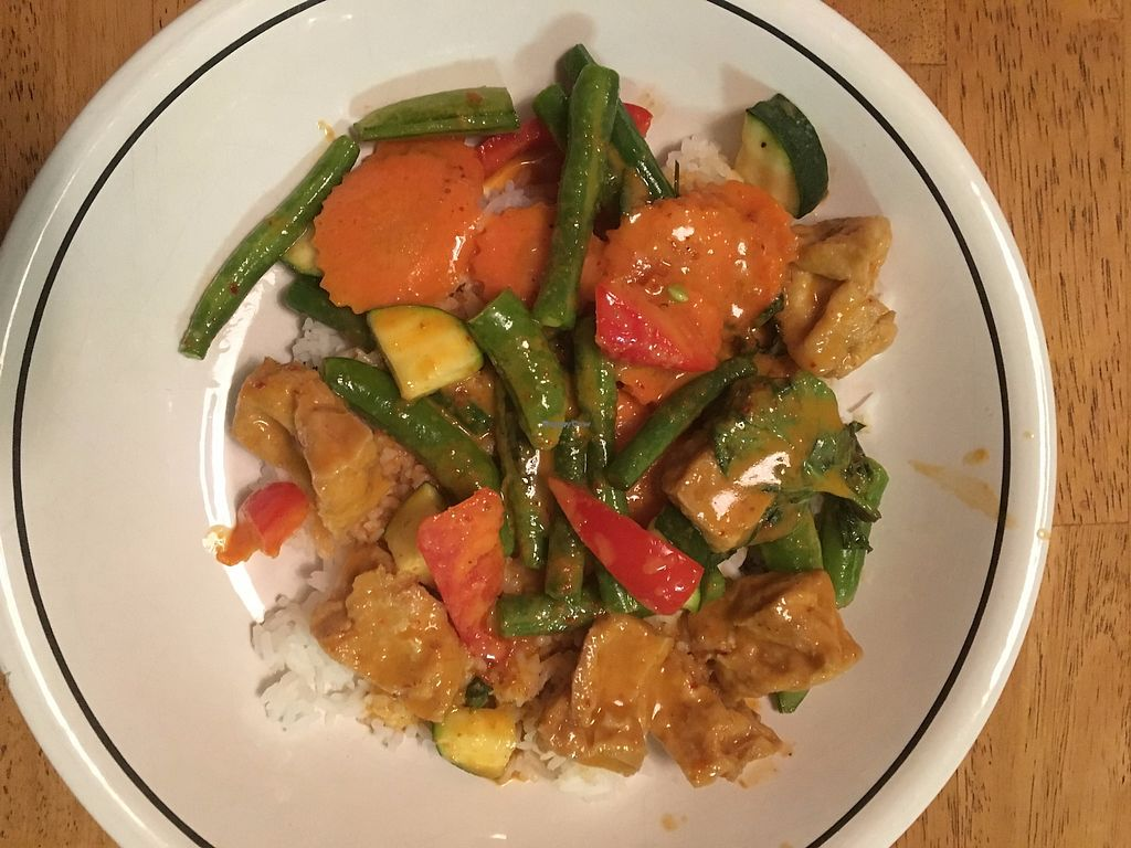 """Photo of Thai Kitchen  by <a href=""""/members/profile/sophiefrenchfry"""">sophiefrenchfry</a> <br/>Pha Naeng Curry with Tofu <br/> November 3, 2017  - <a href='/contact/abuse/image/70027/321541'>Report</a>"""