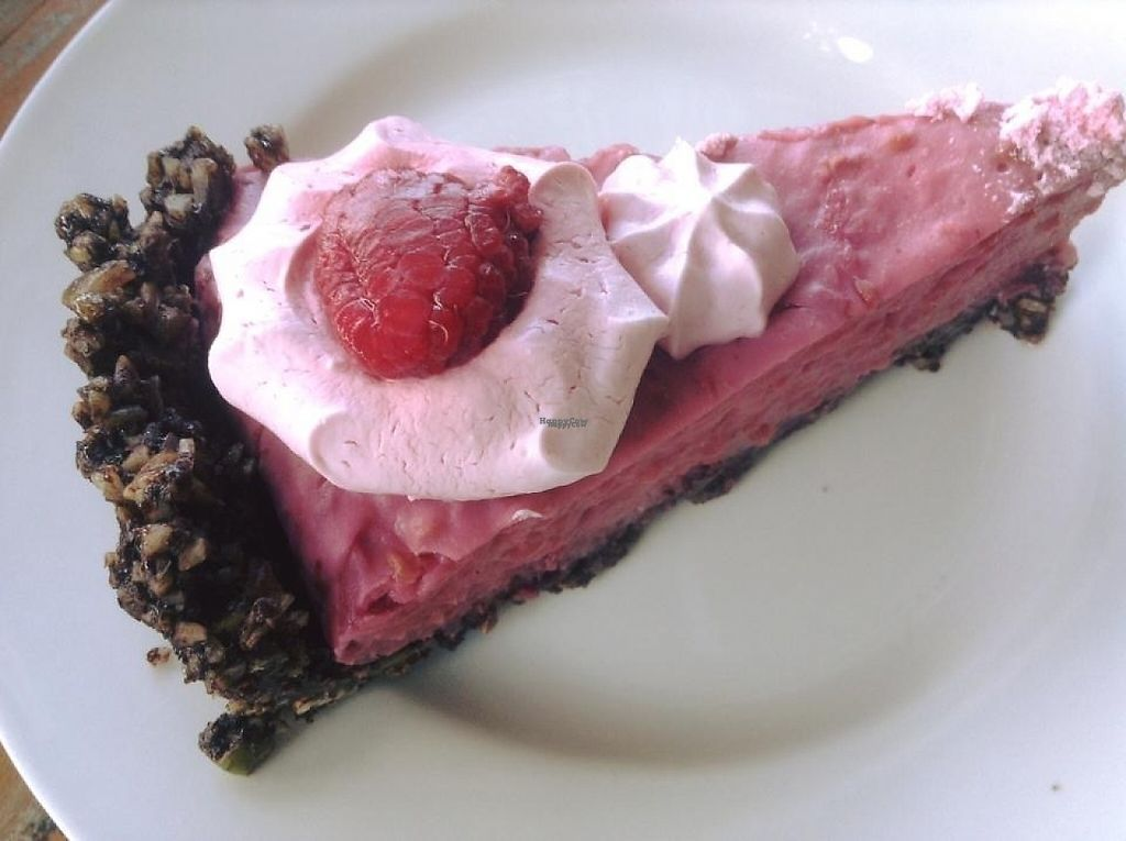 """Photo of NEST at the Old Bakery  by <a href=""""/members/profile/Ladylock"""">Ladylock</a> <br/>Vegan and gluten free choc raspberry cake <br/> February 6, 2017  - <a href='/contact/abuse/image/70048/223546'>Report</a>"""