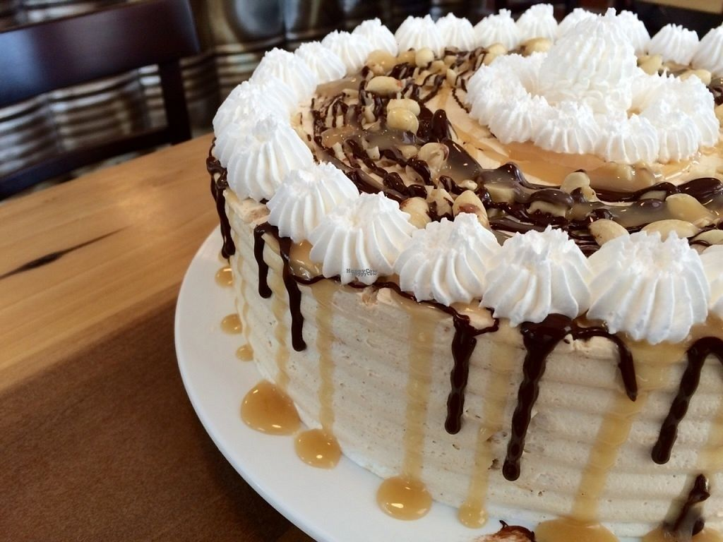 """Photo of Cafe Blattgold  by <a href=""""/members/profile/xinmyheadx"""">xinmyheadx</a> <br/>Vegan Snickers Cake at Café Blattgold <br/> August 13, 2016  - <a href='/contact/abuse/image/70055/168088'>Report</a>"""