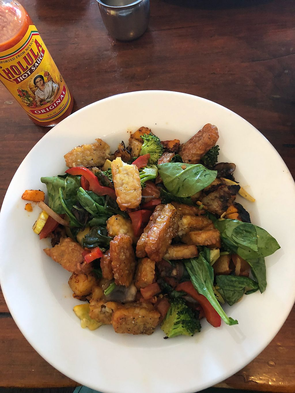 """Photo of Bayside American Cafe  by <a href=""""/members/profile/EmilyR"""">EmilyR</a> <br/>Veggie hash with side of tempeh <br/> April 12, 2018  - <a href='/contact/abuse/image/70062/384723'>Report</a>"""