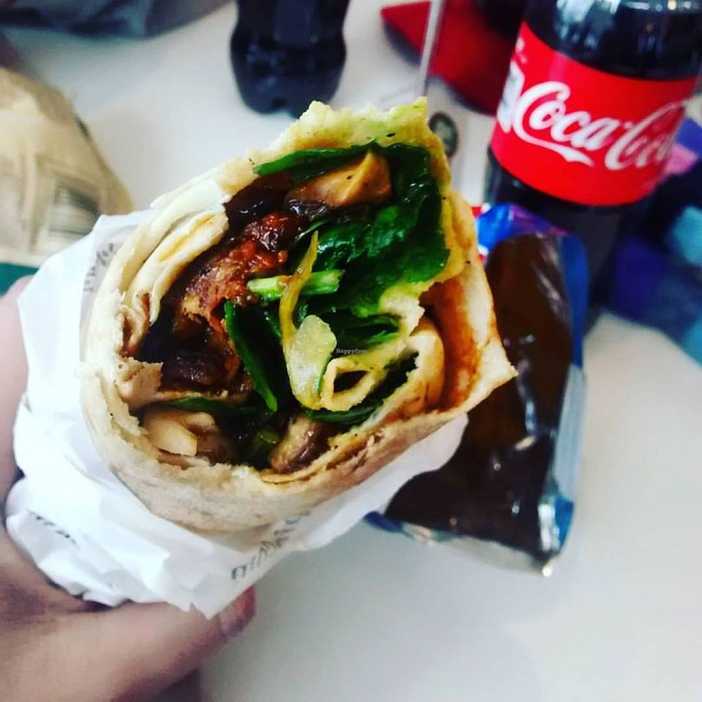 """Photo of Pita Pit - Spring Garden Rd  by <a href=""""/members/profile/QuothTheRaven"""">QuothTheRaven</a> <br/>Spicy black bean <br/> February 25, 2016  - <a href='/contact/abuse/image/70075/137801'>Report</a>"""