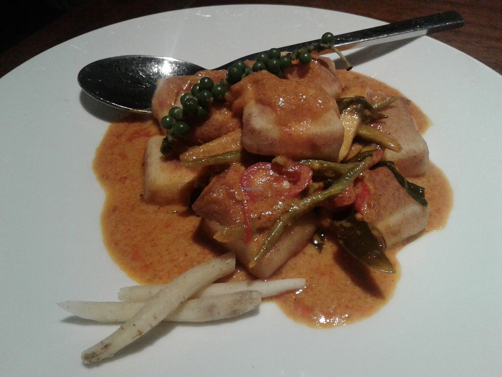 """Photo of Hum Vegetarian - District 1  by <a href=""""/members/profile/RunEatWorld"""">RunEatWorld</a> <br/>Tofu in spicy sauce  <br/> June 28, 2017  - <a href='/contact/abuse/image/70137/274263'>Report</a>"""