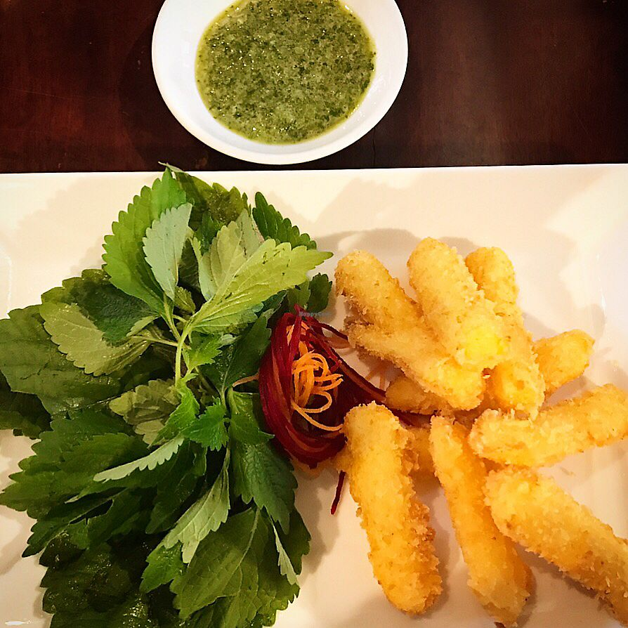 """Photo of Hum Vegetarian - District 1  by <a href=""""/members/profile/CamilleV"""">CamilleV</a> <br/>deep fried tofu with Coriander sauce <br/> June 29, 2017  - <a href='/contact/abuse/image/70137/274812'>Report</a>"""