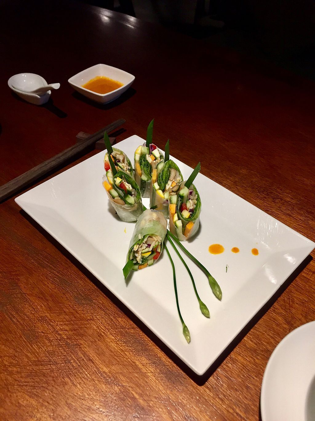 """Photo of Hum Vegetarian - District 1  by <a href=""""/members/profile/kars10"""">kars10</a> <br/>Spring rolls  <br/> February 1, 2018  - <a href='/contact/abuse/image/70137/353521'>Report</a>"""