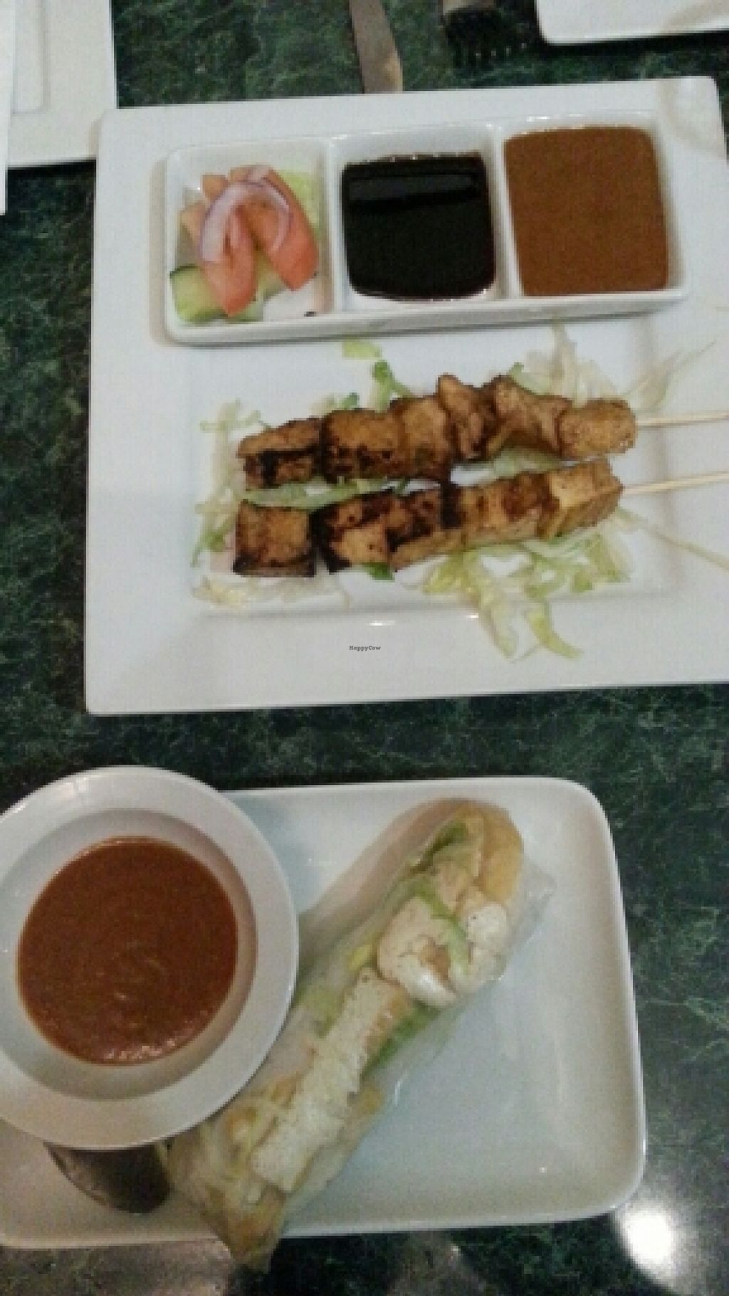 """Photo of Indo  by <a href=""""/members/profile/slithers"""">slithers</a> <br/>spring roll & tofu kebabs <br/> May 15, 2016  - <a href='/contact/abuse/image/70166/149123'>Report</a>"""