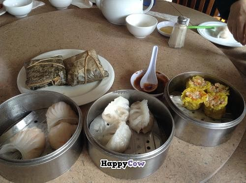 """Photo of Fine Garden  by <a href=""""/members/profile/spiceislandvegan"""">spiceislandvegan</a> <br/>Variety of dim sum dishes. Yuuuum! <br/> October 27, 2013  - <a href='/contact/abuse/image/7020/57416'>Report</a>"""