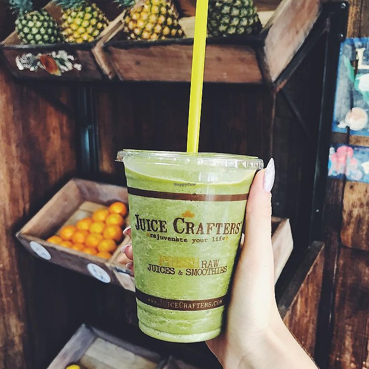 """Photo of Juice Crafters  by <a href=""""/members/profile/JuiceCrafters"""">JuiceCrafters</a> <br/>SILVER CUP SMOOTHIE – almond milk, coconut H2O, kale, dates, banana & walnuts <br/> January 10, 2018  - <a href='/contact/abuse/image/70213/345219'>Report</a>"""