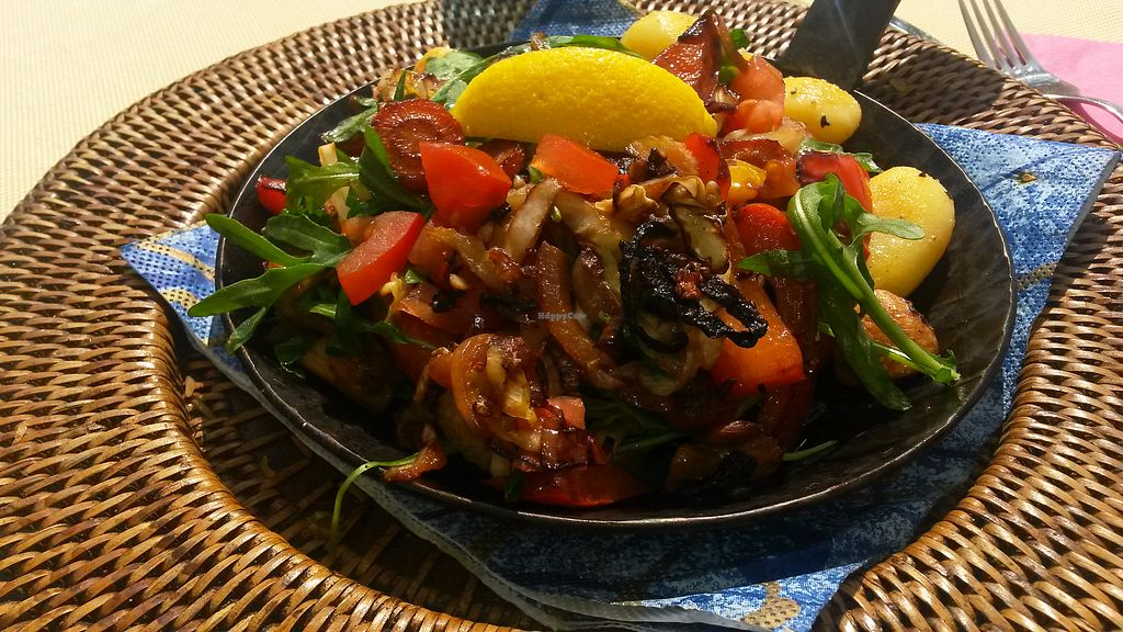 """Photo of Nadines Forellenhof  by <a href=""""/members/profile/DusselDaene"""">DusselDaene</a> <br/>Vegan vegetable pan with potatoes.  <br/> April 21, 2018  - <a href='/contact/abuse/image/70265/389115'>Report</a>"""