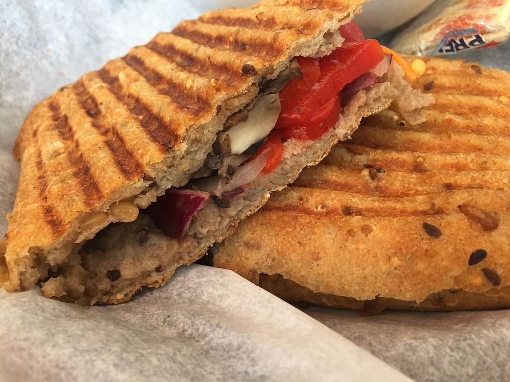 Photo of Fresh Healthy Cafe  by V3ganFoodie <br/>Portobello Panini (without cheese) <br/> February 28, 2016  - <a href='/contact/abuse/image/70268/138128'>Report</a>