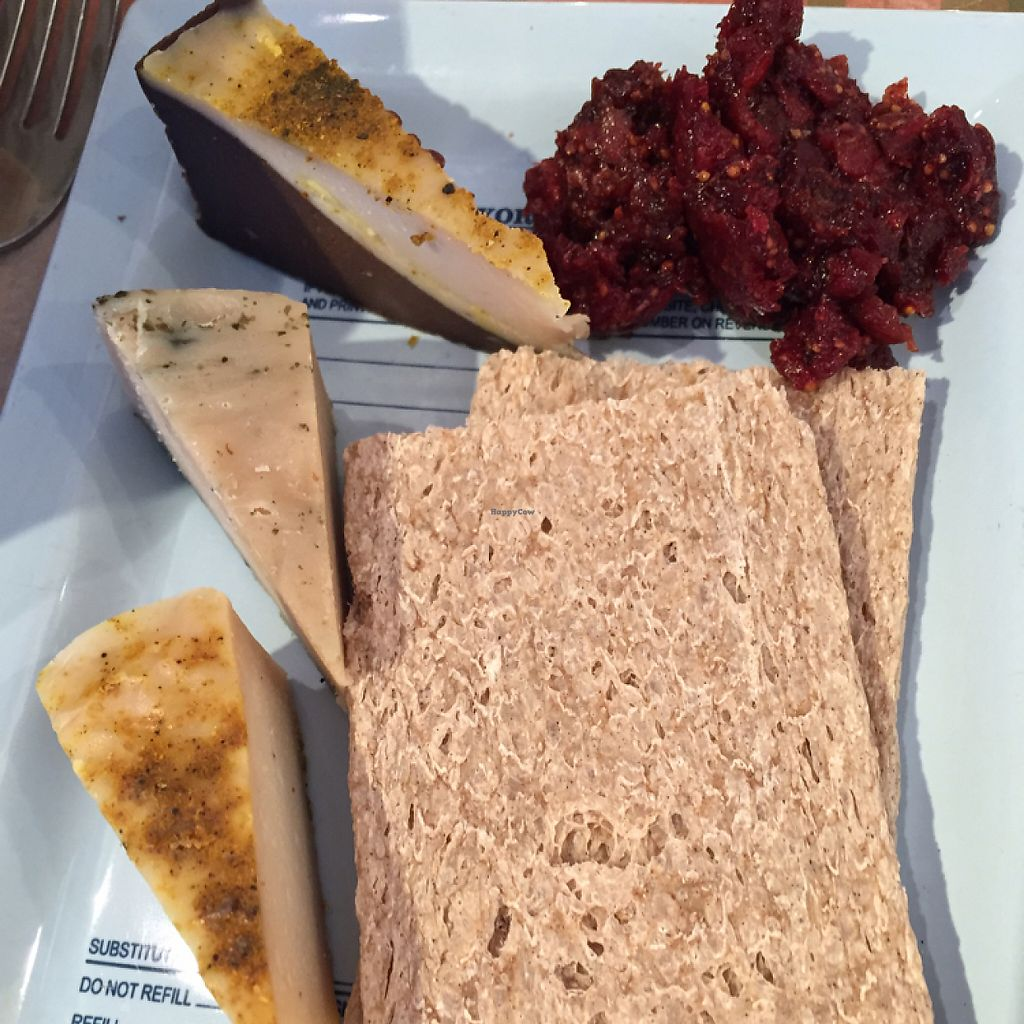 """Photo of Le Botaniste  by <a href=""""/members/profile/dlachica"""">dlachica</a> <br/>small vegan cheese plate <br/> May 6, 2017  - <a href='/contact/abuse/image/70277/256271'>Report</a>"""