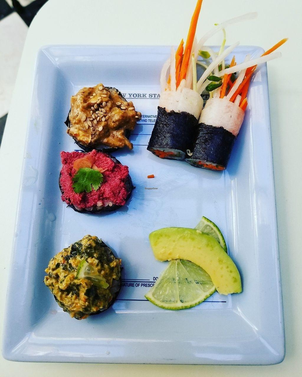 "Photo of Le Botaniste  by <a href=""/members/profile/tikhonova87"">tikhonova87</a> <br/>sushi plate <br/> July 30, 2017  - <a href='/contact/abuse/image/70277/286714'>Report</a>"