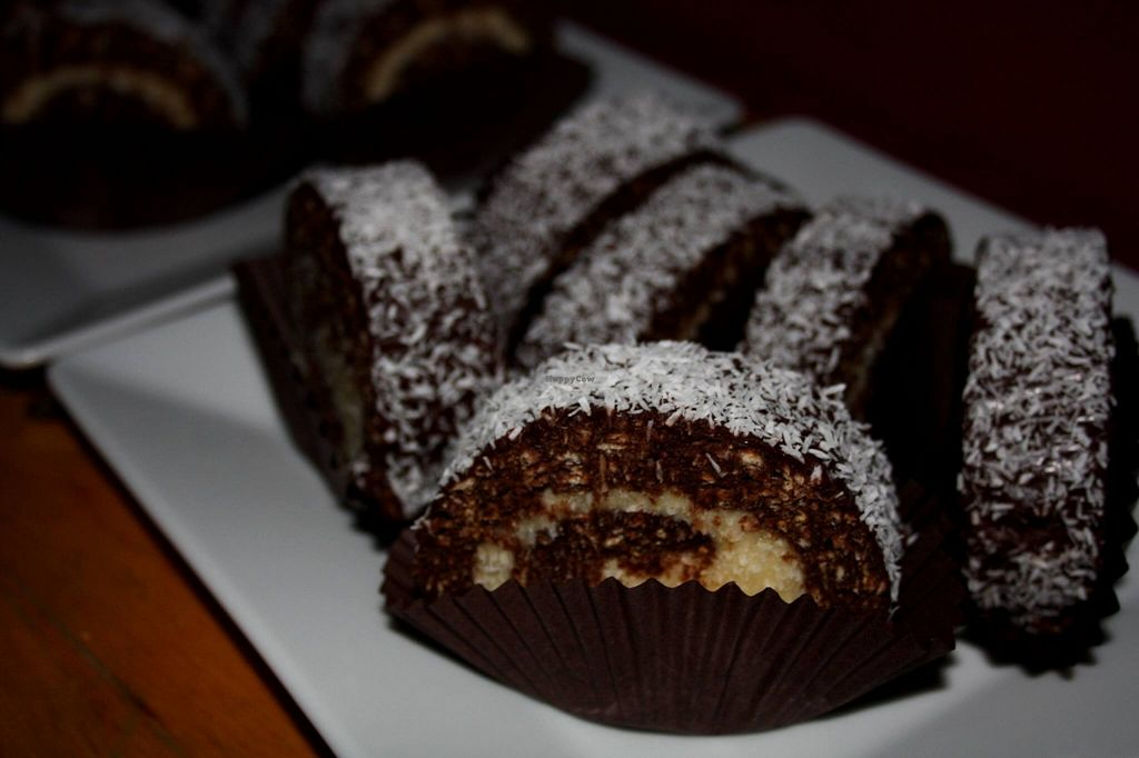 """Photo of Seneville Cafe  by <a href=""""/members/profile/alexandra_vegan"""">alexandra_vegan</a> <br/>Cocosana: chocolate coconut roll - vegan <br/> May 4, 2016  - <a href='/contact/abuse/image/70291/147474'>Report</a>"""