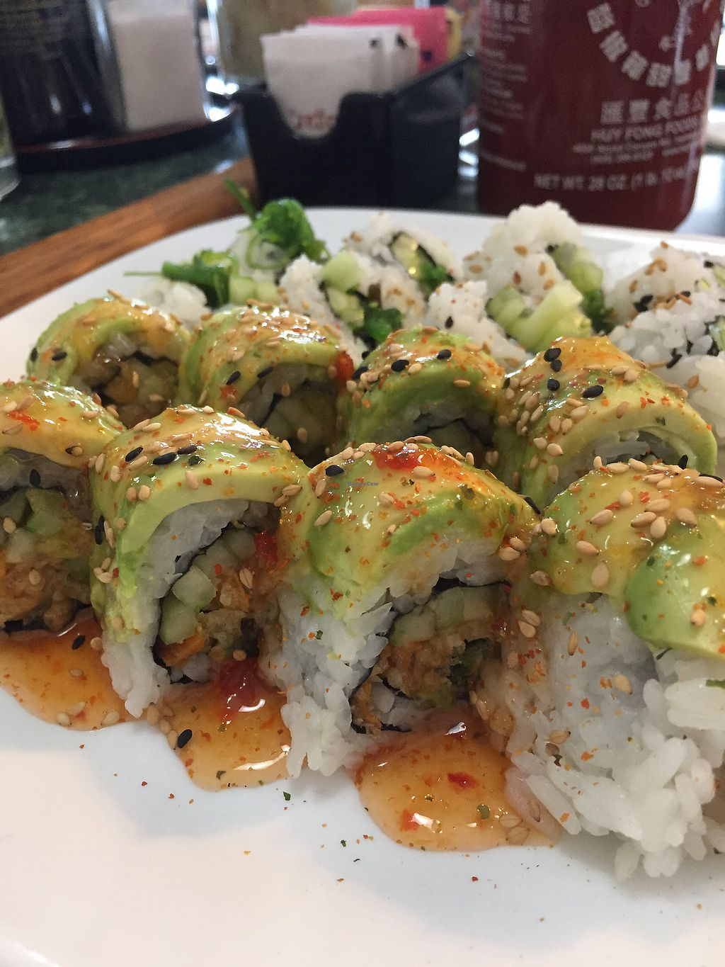 """Photo of Momiji  by <a href=""""/members/profile/happycowgirl"""">happycowgirl</a> <br/>Veg Head sushi roll <br/> December 27, 2017  - <a href='/contact/abuse/image/70314/339740'>Report</a>"""