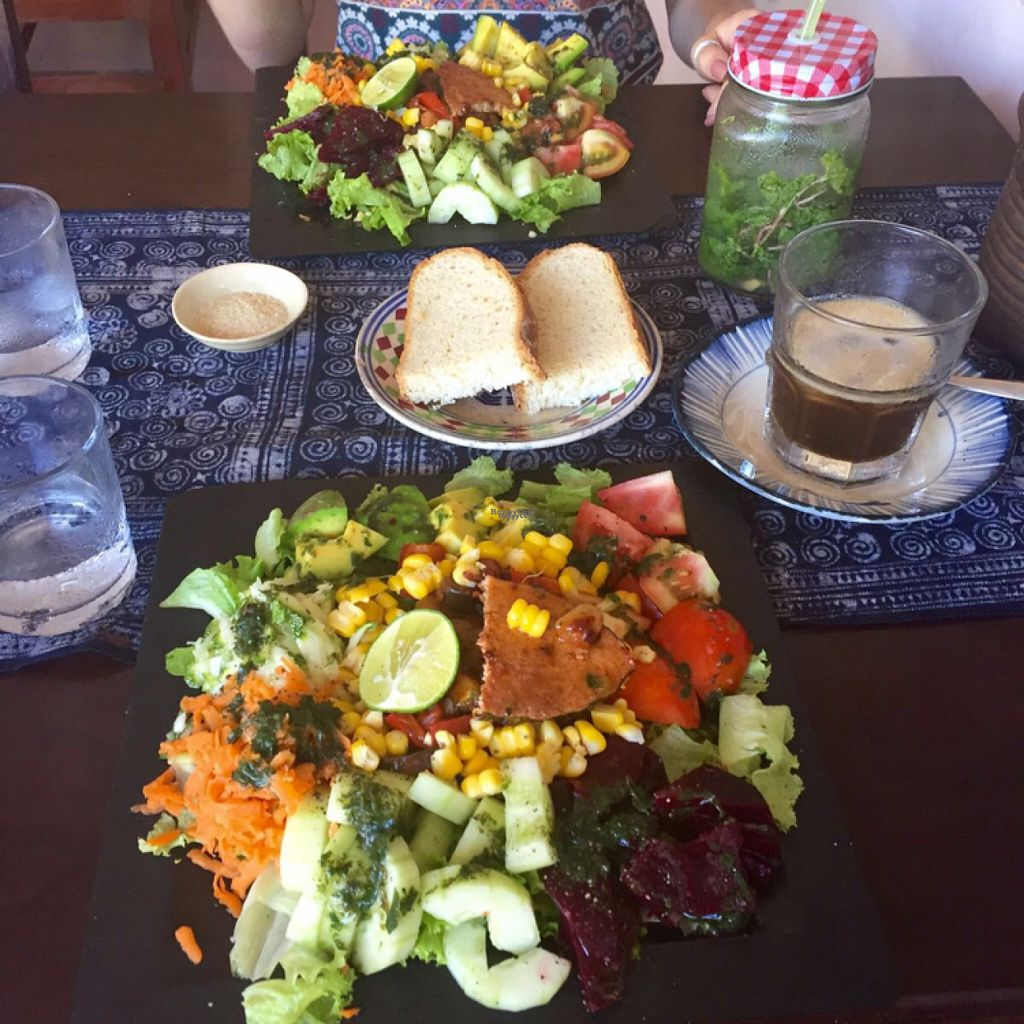 "Photo of Nomad Cafe  by <a href=""/members/profile/Shannybadds"">Shannybadds</a> <br/>The scrummiest salads in all of Hoi An! <br/> August 11, 2016  - <a href='/contact/abuse/image/70333/167630'>Report</a>"