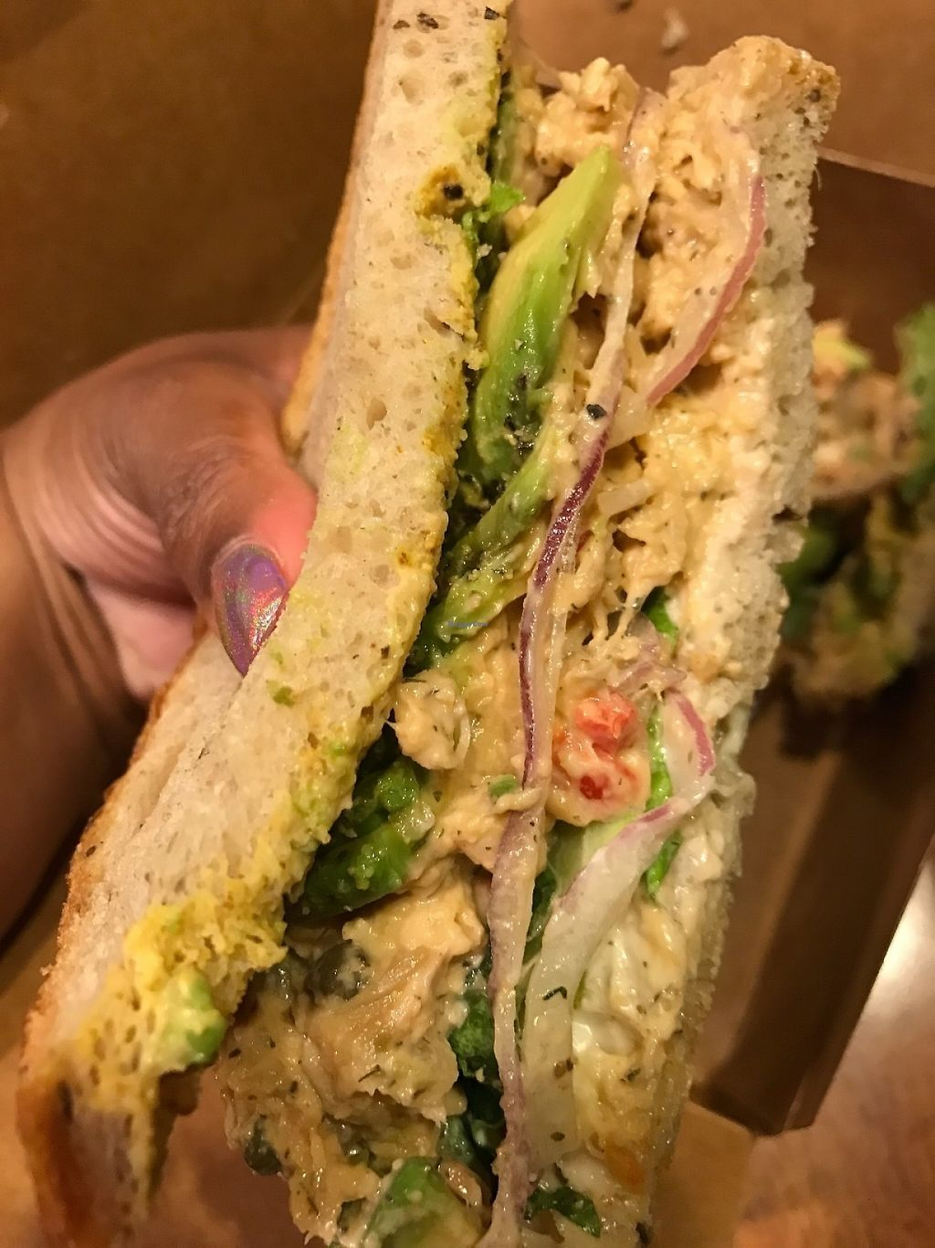 "Photo of The Butcher's Son  by <a href=""/members/profile/Tigra220"">Tigra220</a> <br/>Tempeh Tuna Salad Sandwich  <br/> May 18, 2017  - <a href='/contact/abuse/image/70334/259729'>Report</a>"