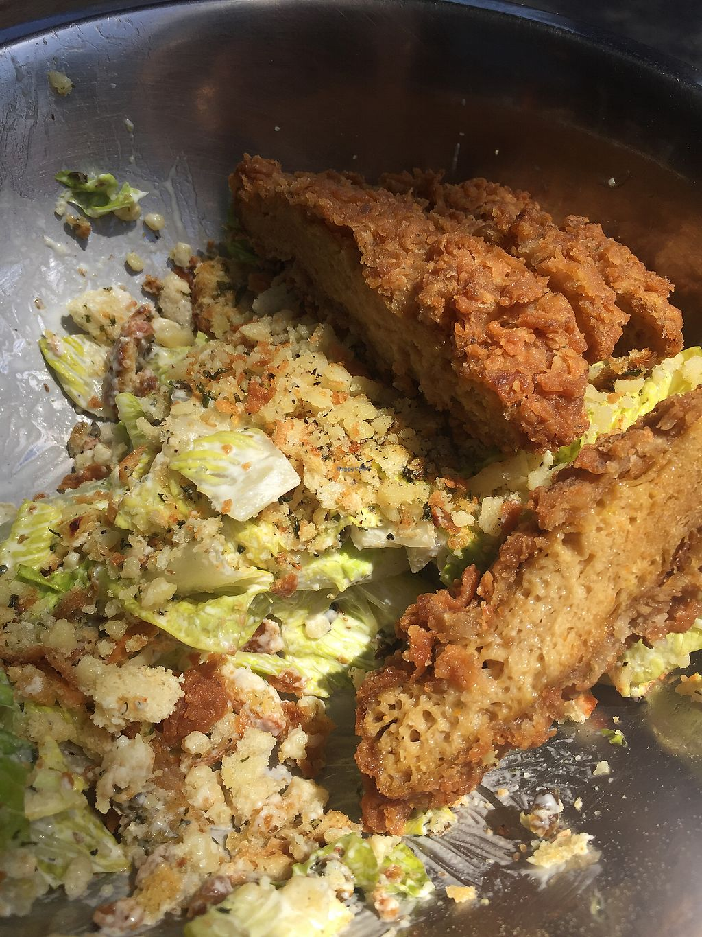 "Photo of The Butcher's Son  by <a href=""/members/profile/Sakurasinclair"">Sakurasinclair</a> <br/> Cesar salad with fried chicken <br/> August 16, 2017  - <a href='/contact/abuse/image/70334/293388'>Report</a>"