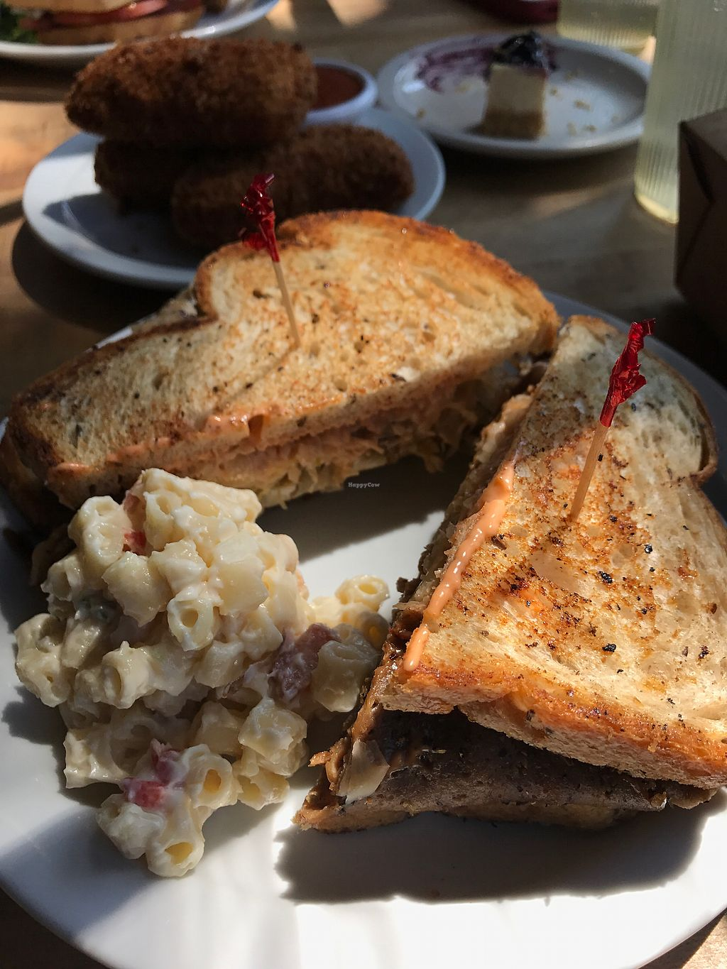 "Photo of The Butcher's Son  by <a href=""/members/profile/KelliRosellFisher"">KelliRosellFisher</a> <br/>Reuben with macaroni salad <br/> August 30, 2017  - <a href='/contact/abuse/image/70334/299083'>Report</a>"