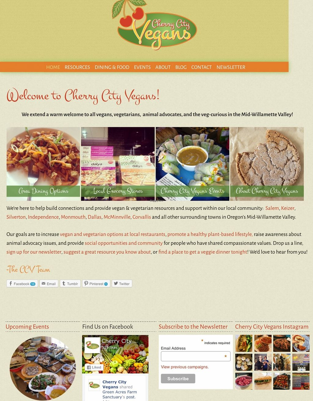 "Photo of Cherry City Vegans  by <a href=""/members/profile/Arthousebill"">Arthousebill</a> <br/>Webpage <br/> May 2, 2016  - <a href='/contact/abuse/image/70355/147119'>Report</a>"