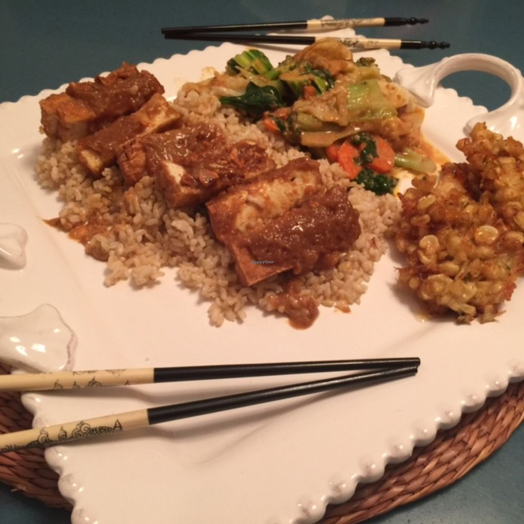 """Photo of Mango on Main  by <a href=""""/members/profile/Napa%20Valley%20Vegan"""">Napa Valley Vegan</a> <br/>Peanut Bomb with Tofu!  <br/> March 1, 2016  - <a href='/contact/abuse/image/70359/138350'>Report</a>"""
