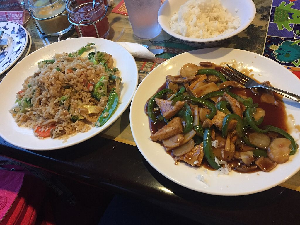 """Photo of Mark Pi's China Gate  by <a href=""""/members/profile/KristenRenee"""">KristenRenee</a> <br/>Vegetable Fried rice and Spicy Tofu <br/> October 25, 2017  - <a href='/contact/abuse/image/70396/318901'>Report</a>"""