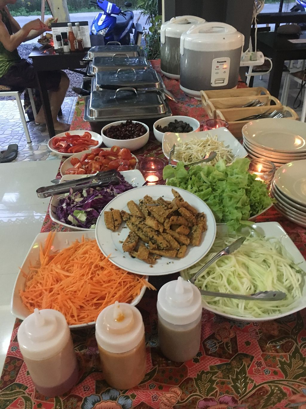 """Photo of Art of Juice  by <a href=""""/members/profile/Art%20of%20Juice"""">Art of Juice</a> <br/>We offer Asian foods buffet and Vegetarian vegan salad ?  <br/> December 3, 2017  - <a href='/contact/abuse/image/70419/331859'>Report</a>"""