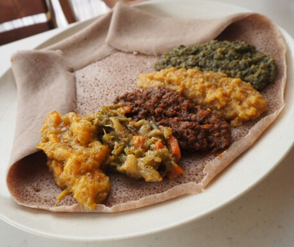 """Photo of Addis Ababa Cafe  by <a href=""""/members/profile/JanineBarthel"""">JanineBarthel</a> <br/>vegan mixed plate  <br/> March 5, 2016  - <a href='/contact/abuse/image/70424/138803'>Report</a>"""