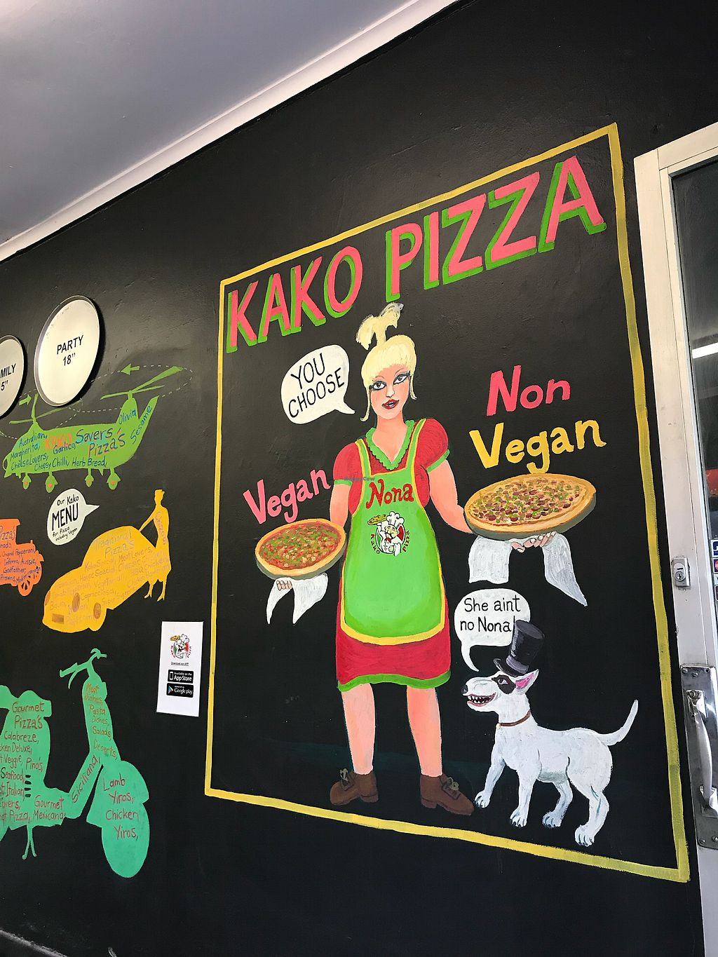 "Photo of Kako Pizza  by <a href=""/members/profile/allyandlouis"">allyandlouis</a> <br/>Vegan friendly <br/> January 23, 2018  - <a href='/contact/abuse/image/70429/350118'>Report</a>"