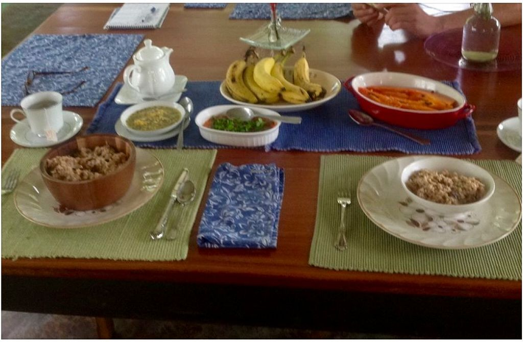 """Photo of Casa AbundancYah B&B  by <a href=""""/members/profile/Casa%20AbundancYah%20BB"""">Casa AbundancYah BB</a> <br/>Vegan delight breakfast for two <br/> March 6, 2016  - <a href='/contact/abuse/image/70437/139037'>Report</a>"""