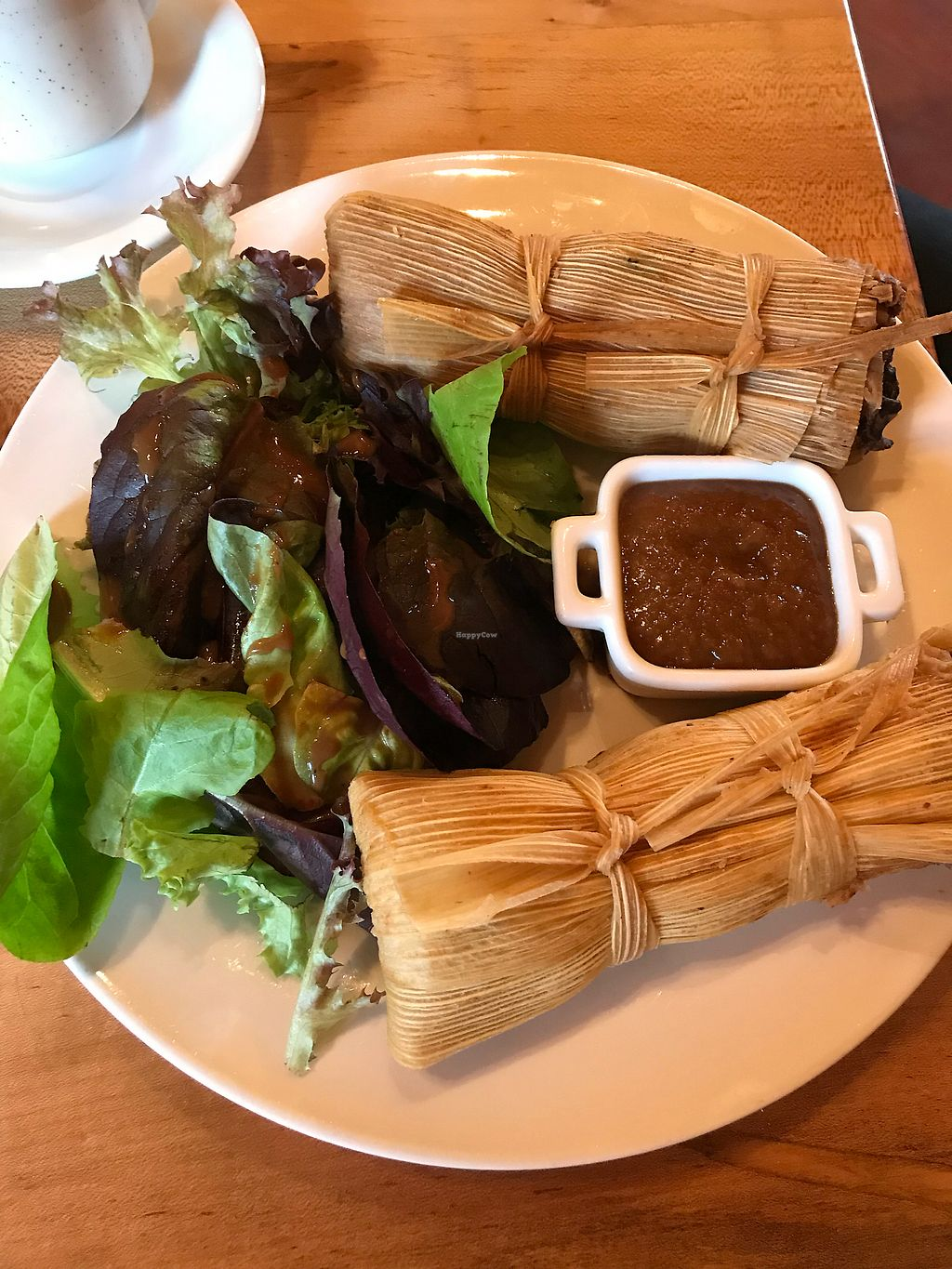 "Photo of La Guinguette  by <a href=""/members/profile/Izzyeddleman"">Izzyeddleman</a> <br/>Wild mushroom tamales  <br/> December 15, 2017  - <a href='/contact/abuse/image/70457/335847'>Report</a>"