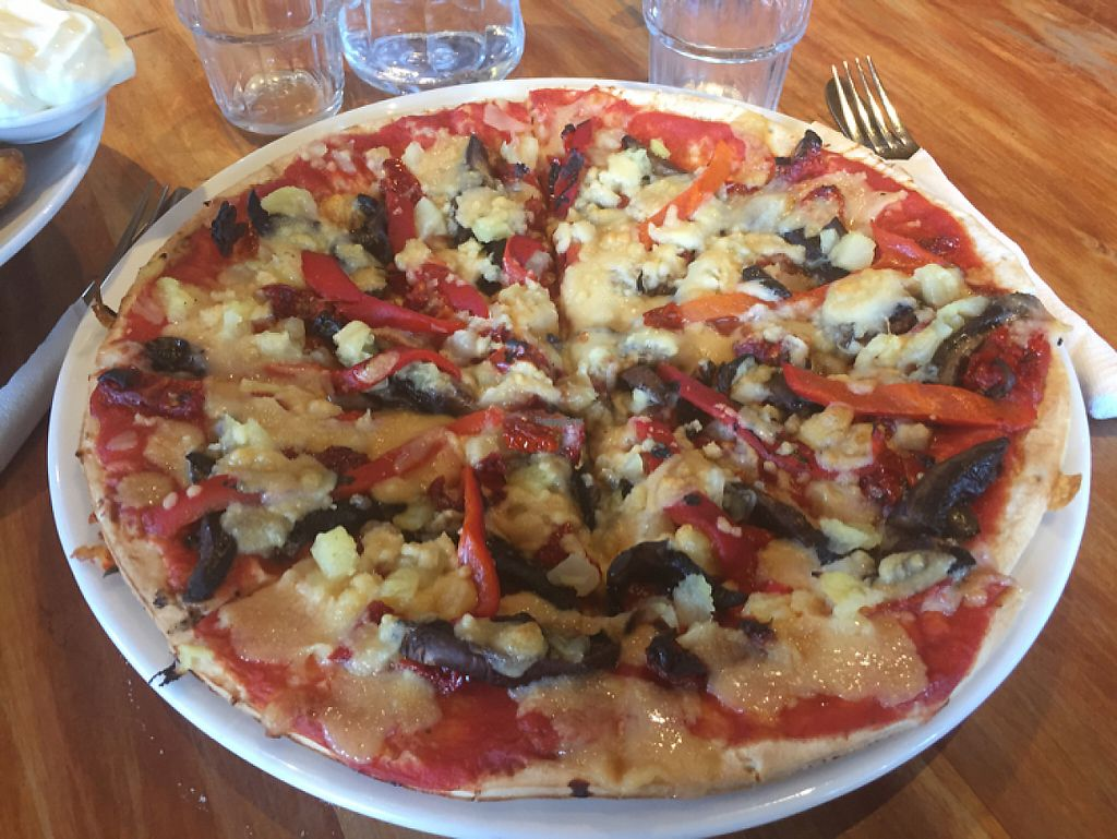 """Photo of Kai Whakapai Cafe and Bar   by <a href=""""/members/profile/haydenmicallef"""">haydenmicallef</a> <br/>Vegan Pizza <br/> December 12, 2016  - <a href='/contact/abuse/image/70469/200133'>Report</a>"""