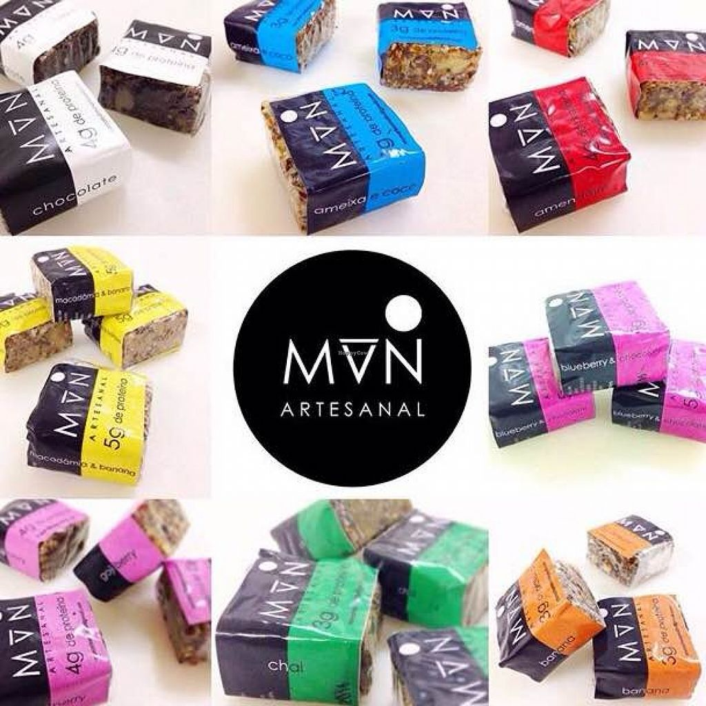 Photo of Mun Artesanal  by hendeeth <br/>Protein bars made by Mun Artesanal   Flavors (clockwise starting on top left): Chocolate Plum and Coconut Peanut Blueberry with Chocolate Banana Chai Goji Berry Macadamia with Banana   <br/> March 7, 2016  - <a href='/contact/abuse/image/70484/139121'>Report</a>