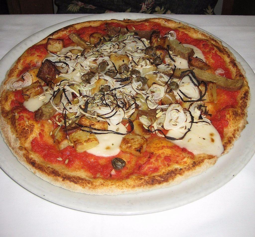 """Photo of Pizzeria La Pecora Nera  by <a href=""""/members/profile/Liah"""">Liah</a> <br/>La Finocchietto - Delicious Pizza with seitan <br/> June 12, 2017  - <a href='/contact/abuse/image/70499/268369'>Report</a>"""