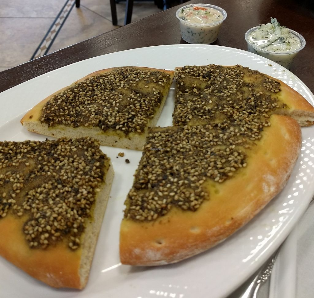 """Photo of Peace Bakery & Deli  by <a href=""""/members/profile/Larkspur"""">Larkspur</a> <br/>zataar pita <br/> March 12, 2016  - <a href='/contact/abuse/image/70521/227191'>Report</a>"""
