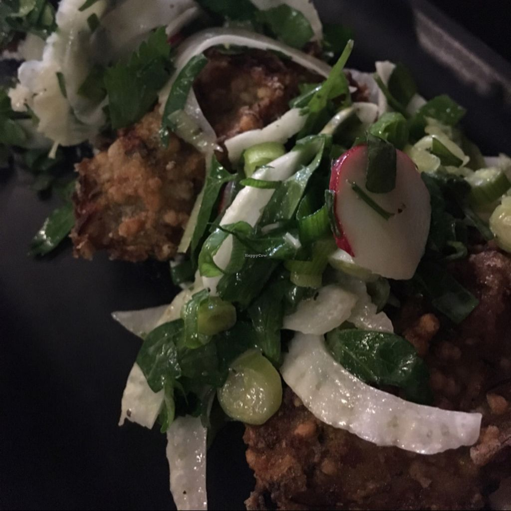 """Photo of Atomica Cafe  by <a href=""""/members/profile/beancurdled"""">beancurdled</a> <br/>zucchini and buckwheat fritters <br/> July 2, 2016  - <a href='/contact/abuse/image/70527/157286'>Report</a>"""