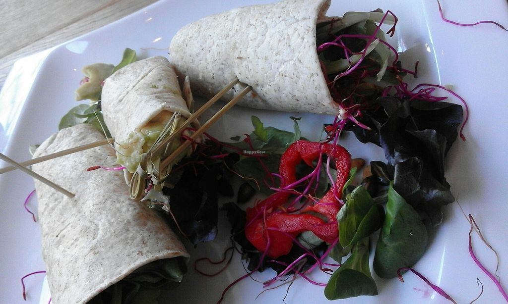 """Photo of Koffie&Koffie  by <a href=""""/members/profile/v_mdj"""">v_mdj</a> <br/>vegan wraps with humus and avocado <br/> August 19, 2017  - <a href='/contact/abuse/image/70528/294523'>Report</a>"""