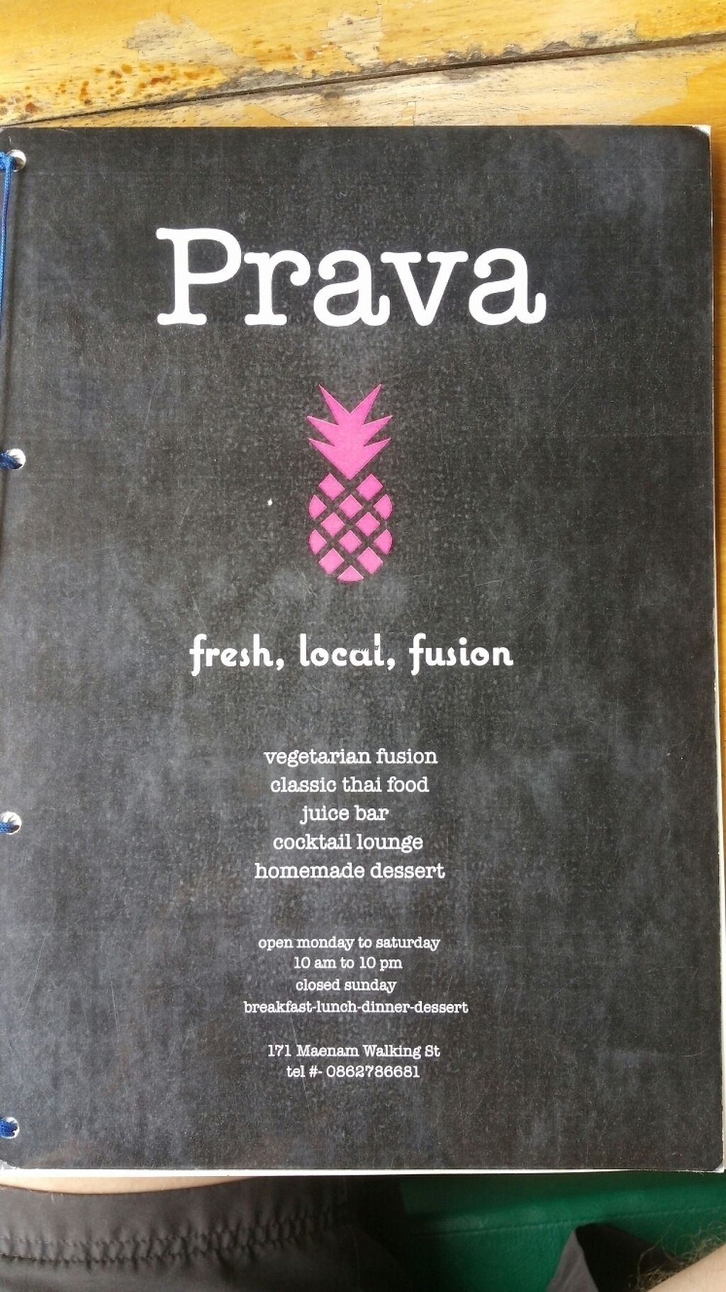 """Photo of Prava Bar  by <a href=""""/members/profile/MMills"""">MMills</a> <br/>Menu Front <br/> December 19, 2016  - <a href='/contact/abuse/image/70530/202870'>Report</a>"""