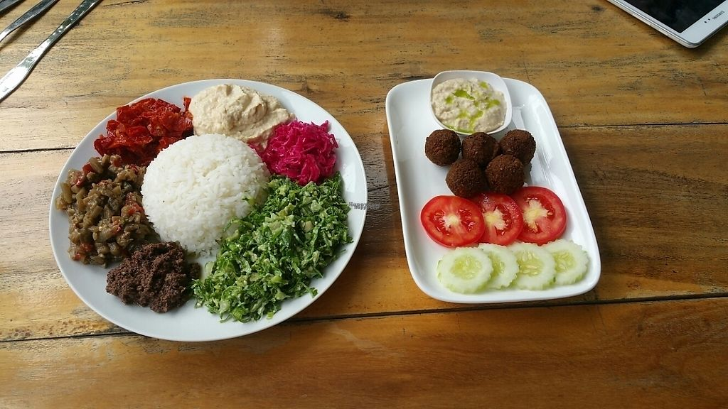 """Photo of Prava Bar  by <a href=""""/members/profile/MMills"""">MMills</a> <br/>Vegan Mezza and Felafel Plate. Gluten free.  <br/> December 19, 2016  - <a href='/contact/abuse/image/70530/202871'>Report</a>"""