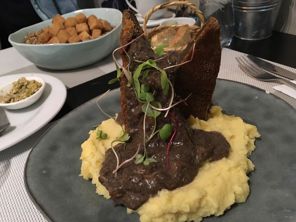 """Photo of Seitan Urban Bistro  by <a href=""""/members/profile/peas-full"""">peas-full</a> <br/>seitan with champignons sauce <br/> November 28, 2017  - <a href='/contact/abuse/image/70536/330126'>Report</a>"""
