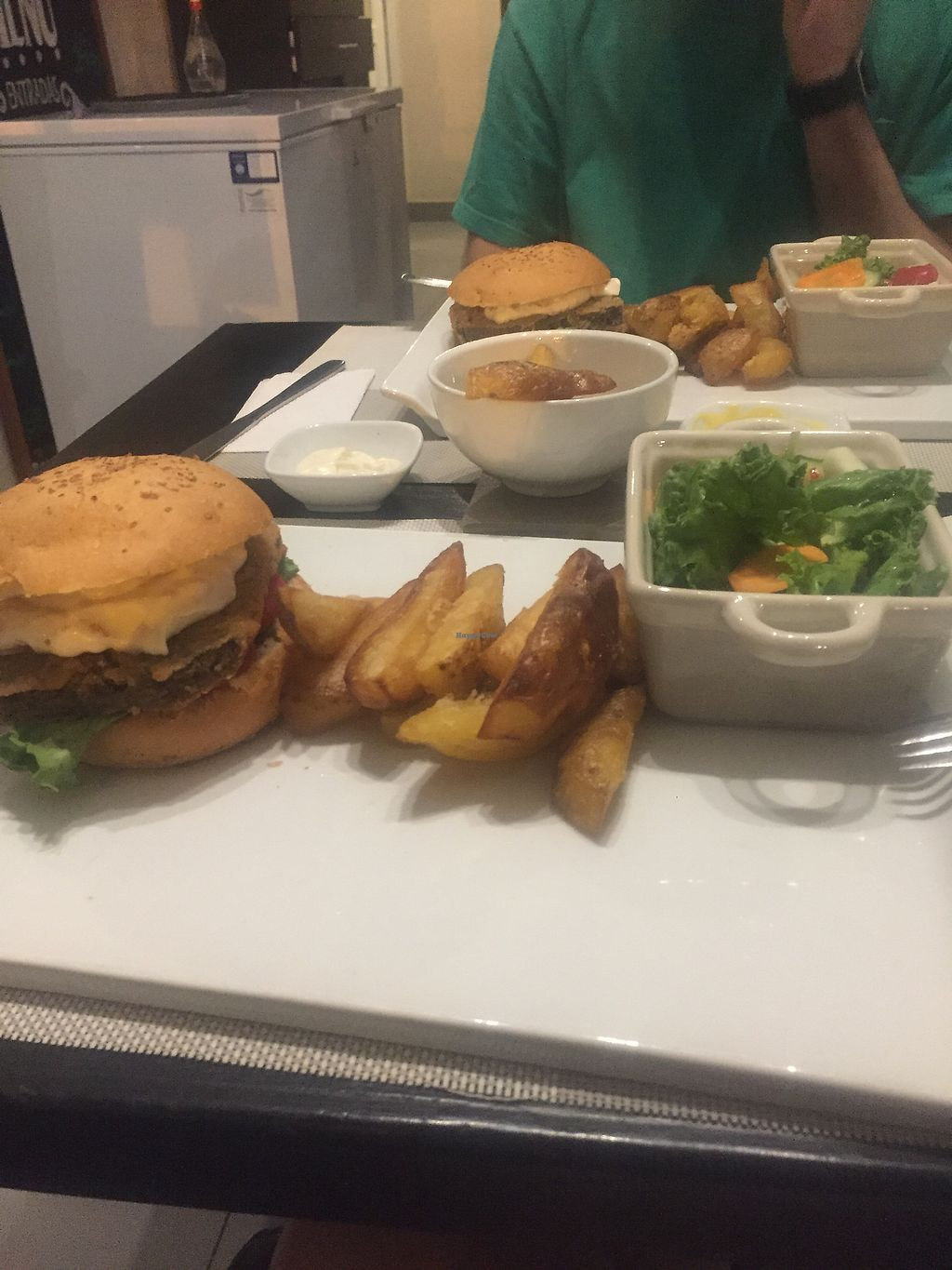 """Photo of Seitan Urban Bistro  by <a href=""""/members/profile/amndaxxxx"""">amndaxxxx</a> <br/>Very satisfying burger  <br/> January 24, 2018  - <a href='/contact/abuse/image/70536/350297'>Report</a>"""