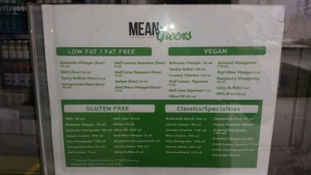 """Photo of CLOSED: Mean Greens  by <a href=""""/members/profile/kenvegan"""">kenvegan</a> <br/>menu <br/> March 6, 2016  - <a href='/contact/abuse/image/70541/139029'>Report</a>"""