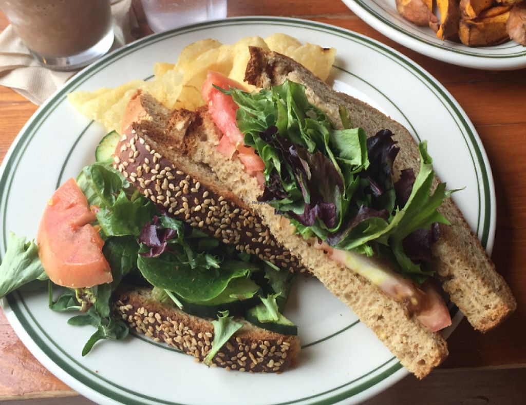 "Photo of Kavarna Coffeehouse  by <a href=""/members/profile/christinroskos"">christinroskos</a> <br/>veggie sandwich & yam fries (dip is NOT vegan) <br/> July 23, 2016  - <a href='/contact/abuse/image/7055/233738'>Report</a>"
