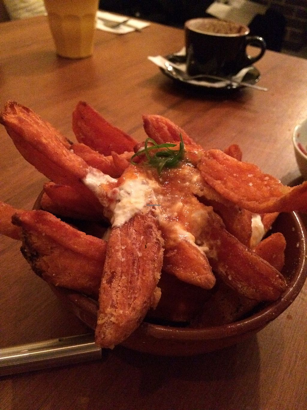 """Photo of Lemon and Thyme  by <a href=""""/members/profile/AndyV"""">AndyV</a> <br/>handmade sweet potato wedges with chilli jam <br/> July 9, 2017  - <a href='/contact/abuse/image/70569/278034'>Report</a>"""